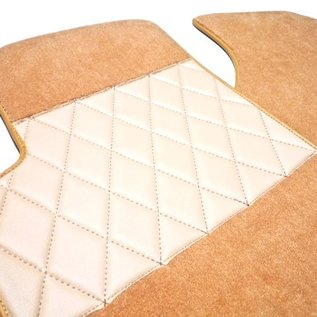 Mercedes-Benz W186 300 b c 1951-1957 Carpet set interior velours medium tan + semi-leather trimming