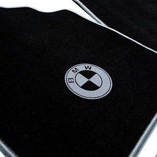 BMW E3 3.0Li + 3.3L + 3.3Li Floor mat set velours black-grey logo + trim