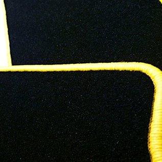 Lamborghini Murcielago Floor mat set velours black - yellow