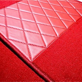 BMW Z1 Floor mat set premium velours red