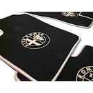 Tapis de sol velours noir-logo + contours beigeAlfa Romeo 159 + SW 2005-2011