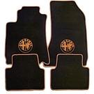 Tapis de sol velours noir-logo + contours orAlfa Romeo 159 + SW 2005-2011
