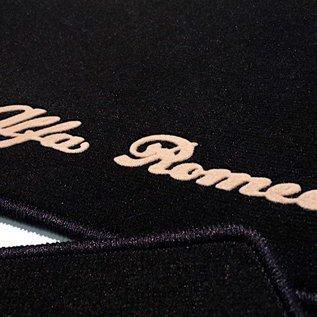 Alfa Romeo 159 + SW 2005-2011 Floor mat set velours black-tan script