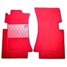 Floor mat set premium velours red Mercedes W111 + W112 Coupe 1961-1971