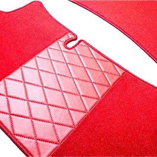 Mercedes W111 + W112 Coupe 1961-1971 Floor mat set premium velours red