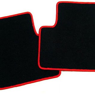Alfa Romeo 147 Floor mat set black-red script GTA