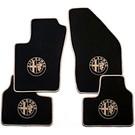 Tapis de sol velours noir - 4 x logo + contours beigeAlfa Romeo 147