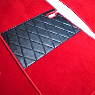 Mercedes W110 190 200 230 Fintail 1961-1968 Floor mat set premium velours red
