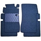 Floor mat set premium loop dark blue Mercedes W110 190 200 230 Fintail 1961-1968