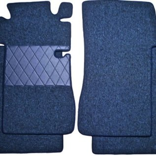 Mercedes W110 190 200 230 Fintail 1961-1968 Floor mat set premium loop dark blue