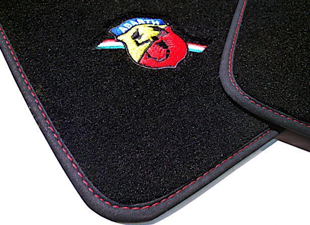 Abarth Fiat 500 2008 2014 Floor Mat Set Velours Black