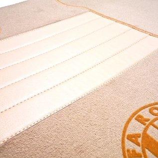 Alfa Romeo GTV + Spider 916 1995-2006 Floor mat set premium velours tan - gold logo script + trim