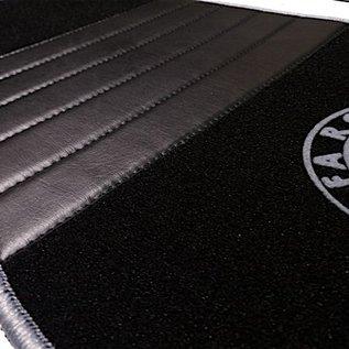Alfa Romeo GTV + Spider 916 1995-2006 Floor mat set premium velours black - grey logo script + trim