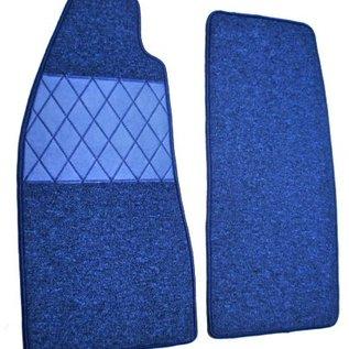 Fiat 124 Spider Floor mat set premiumloop blue