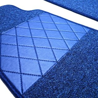 Fiat 124 Spider Tapis de sol premium boucle bleu