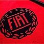 Fiat 124 Spider Floor mat set veloursred - black logo + trim
