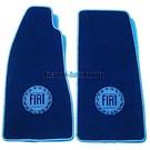 Floor mat set veloursdark blue - blue logo + trimFiat 124 Spider