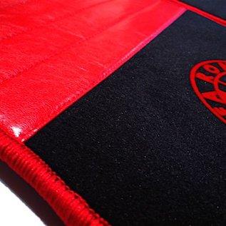 Alfa Romeo Alfetta + GT + GTV + GTV6 1972-1987 Floor mat set premium velours black-red logo + trim