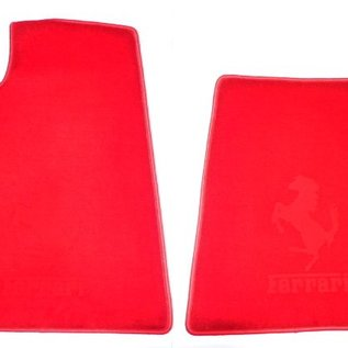 550 Maranello Floor mat setveloursred - red