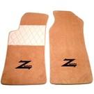 Tapis de sol premium veloursbeige foncé - sigle noir + contours orAlfa Romeo ES30 RZ