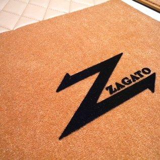 Alfa Romeo ES30 SZ Floor mat set premiumveloursdark tan - black script + gold trim