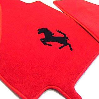 Ferrari 360 Floor mat setveloursred - black horse