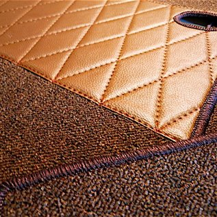 Mercedes-Benz W111 Coupe 280 SE + 3.5 1969-1971 Carpet set interior loop dark brown
