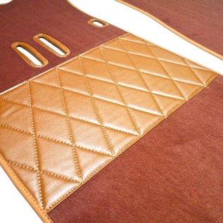 Fiat 2300 S Coupe Carpet set interior velours cognac+ semi-leather trimming