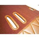 Carpet set interior velours cognac + semi-leather trimming Fiat 2300 S Coupe