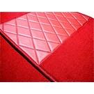 Carpet set interior velours red Triumph TR2 TR3 TR3A