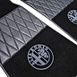 Alfa Romeo GTV + Spider 916 1995-2006 Floor mat set premium velours black - grey logo + semi-leather