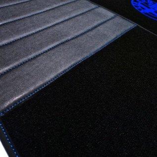 Alfa Romeo GTV + Spider 916 1995-2006 Floor mat set premium velours black - blue logo + nubuck