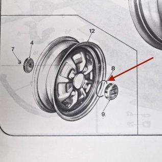 Lancia Fulvia Coupe + Zagato Series 2 Center wheel cap seal set