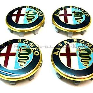 Alfa Romeo Capuchons de moyeu de jante 50 mms.