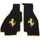 Floor mat setveloursblack - yellow horse + trim Ferrari 308 GTS