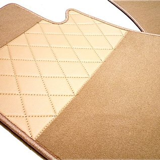 BMW E24 6-series 1976-1989 Floor mat set premium velours cream