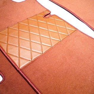 Mercedes W111 220 S SE 230 S Fintail 1959-1968 Floor mat set premium loop cognac