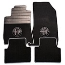 Floor mat set premium velours black - grey logo + trim Alfa Romeo 159 + SW 2005-2011