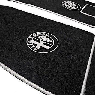 Alfa Romeo GTV + Spider 916 1995-2006 Floor mat set velours black - grey logo + trim