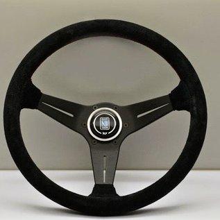 """Nardi """"Deep Corn"""" black suede + black spokes 35 cms. steering wheel"""