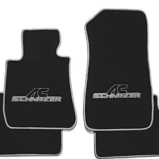 BMW E30 Cabriolet Floor mat set velours black-grey ACS logo + trim