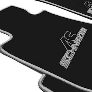 BMW E10 1502 1602 1802 2002 Floor mat set velours black-grey ACS logo + trim