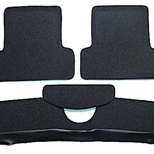 Fiat 124 Sport Spider 1967-1978 Carpet set interior loop dark grey + Nubuck trimming