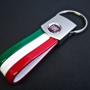 Fiat Key holder semi-leather tricolore