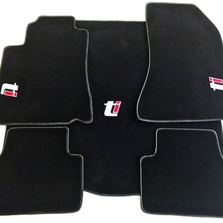 Alfa Romeo 159 + SW 2005-2011 Floor mat set + trunk mat logo Ti + semi-leather trimming