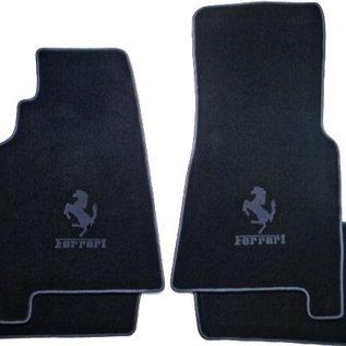 Ferrari 456 GT Floor mat setveloursblack - dark grey horse + script + trim