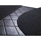 Carpet set interior loop dark grey + nubuck trimming Opel Olympia Rekord P1 1957-1962