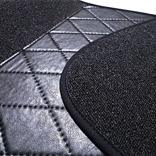 Opel Olympia Rekord P1 1957-1962 Carpet set interior loop dark grey + nubuck trimming