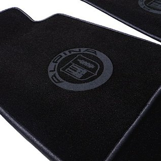 BMW E31 8-series 1989-1999 Floor mat set velours black-dark grey Alpina logo + trim
