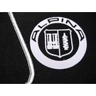 Floor mat set velours black-silver Alpina logo + trim BMW E31 8-series 1989-1999